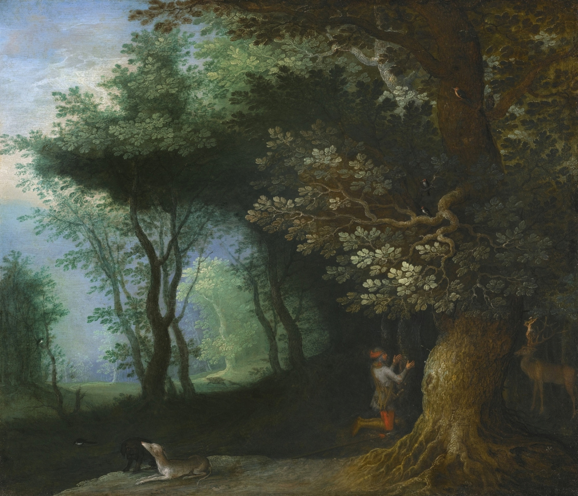 Jan Bruegel The Elder. Vision of Saint Hubert.