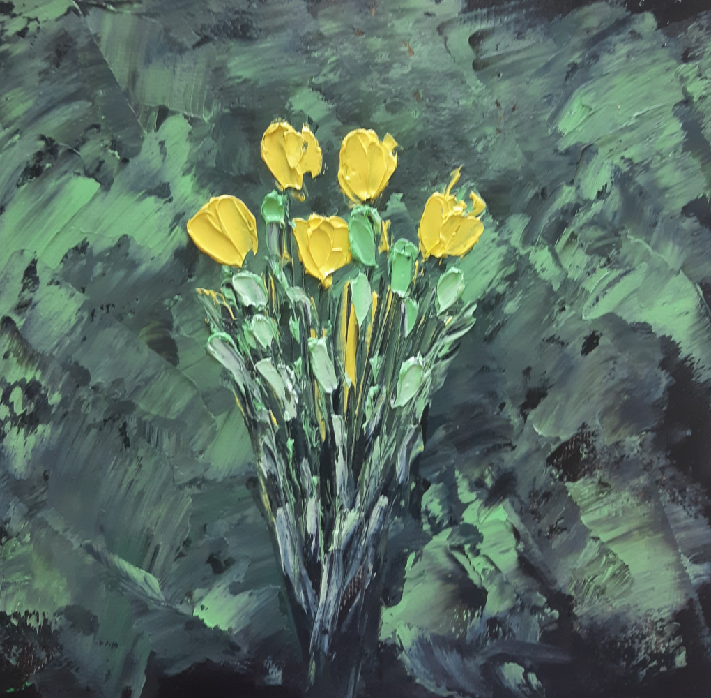 Asya Alibala gizi Hajizadeh. Yellow flowers