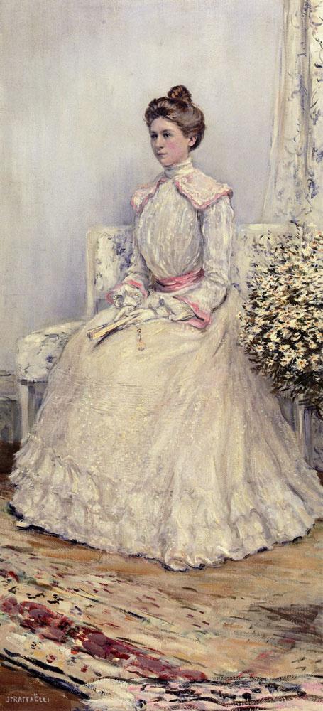 Жан-Франсуа Рафаэлли. Леди в белом с веером
