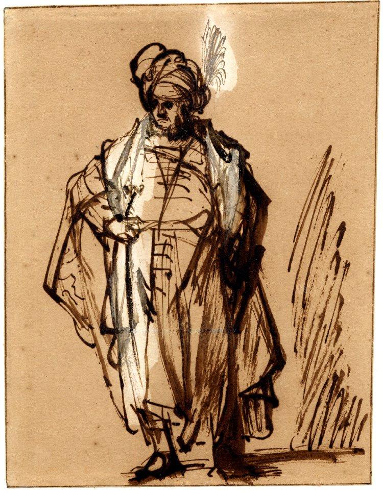 Rembrandt Harmenszoon van Rijn. An Oriental standing