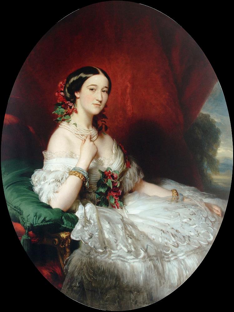 Франц Ксавер Винтерхальтер. Донья Мария Франсиска де Сальс Портокарреро, XV герцогиня де Альба, IX графиня Монтижу