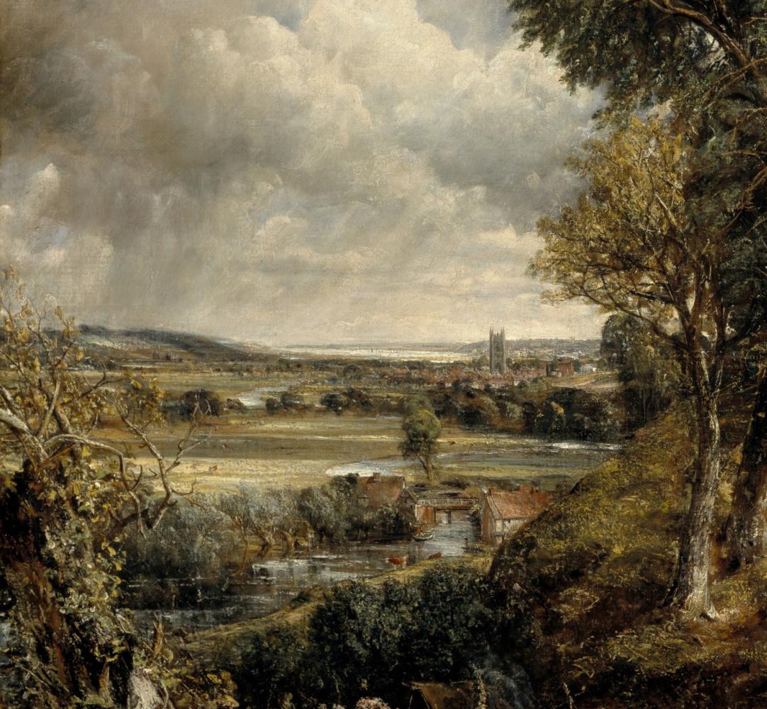 John Constable. Valley in Dedham. Fragment