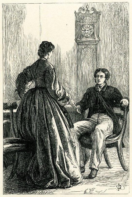 """Джон Эверетт Милле. """"Ты меня любишь?"""" Иллюстрация для журнала """"Корнхилл"""", """"Малый дом в Алленгтоне"""""""