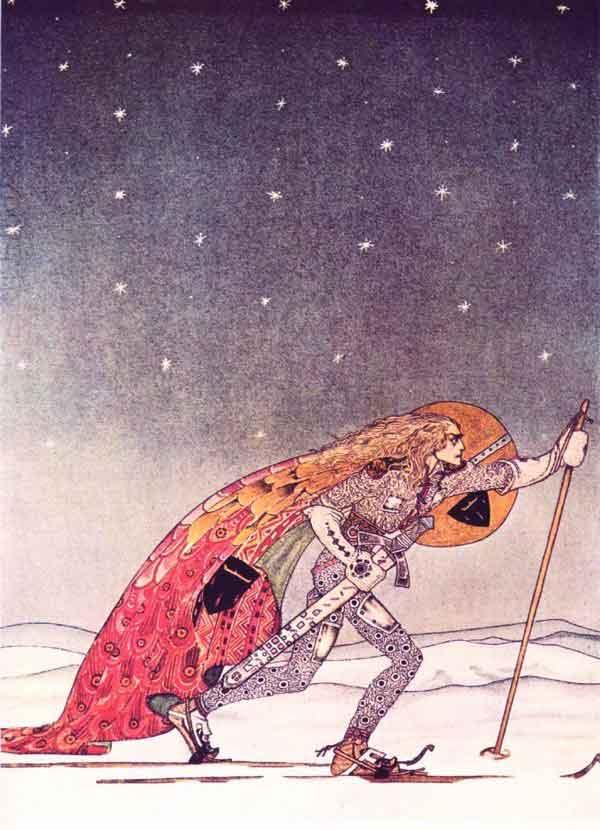 Кей Нильсен. Иллюстрация к  сказке  На восток от солнца, на запад от луны 19