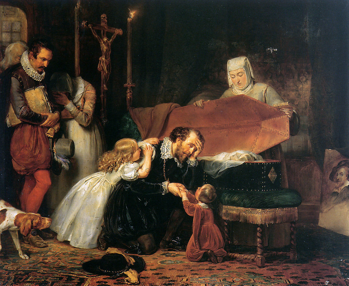 Anthony van Dyck. Rubens mourning his wife