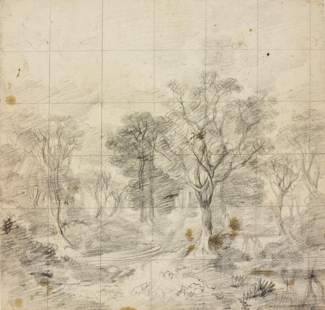 """Thomas Gainsborough. Drawing for the painting """"Kornatsky forest"""""""
