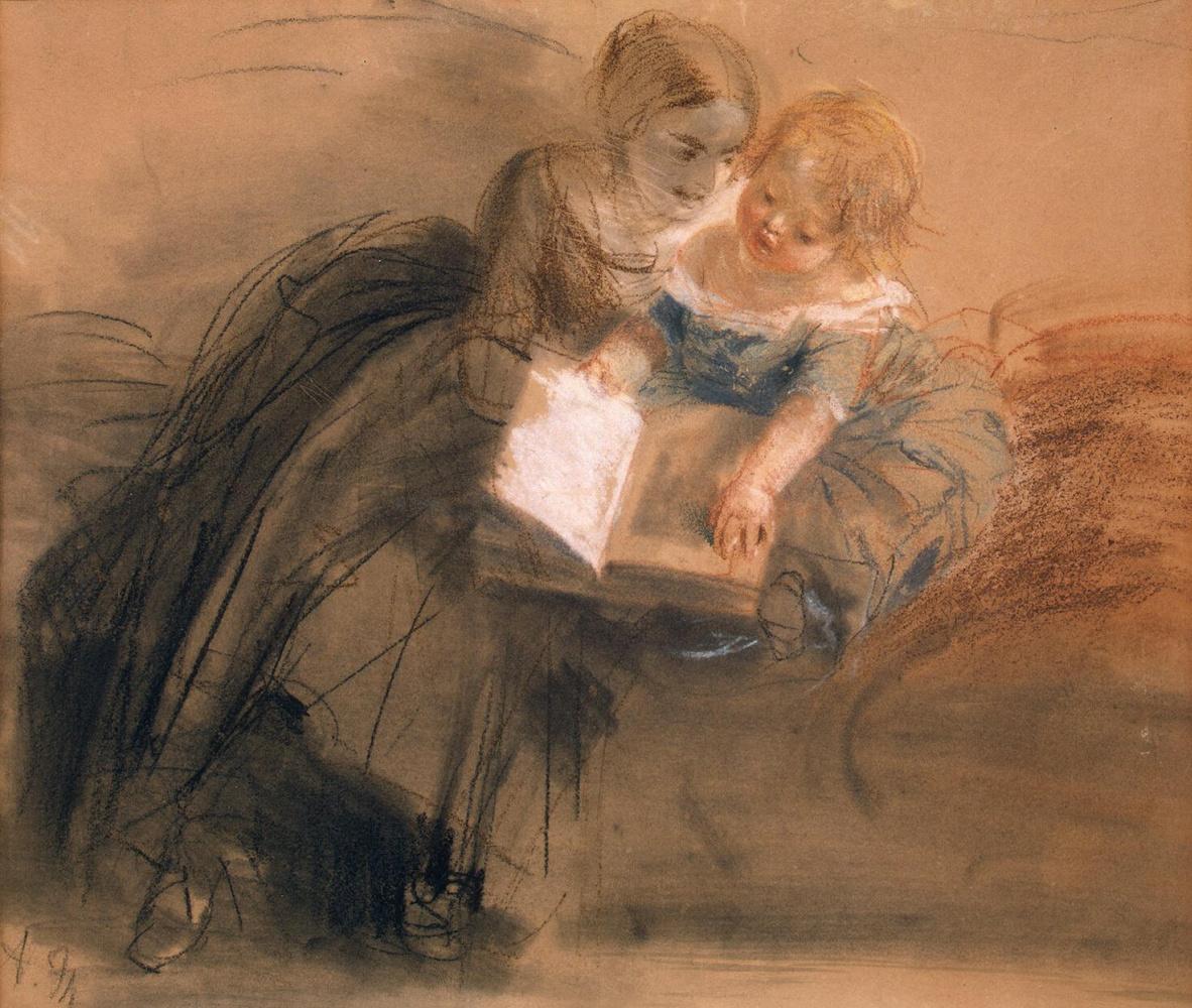 Адольф фон Менцель. Молодая женщина с ребенком