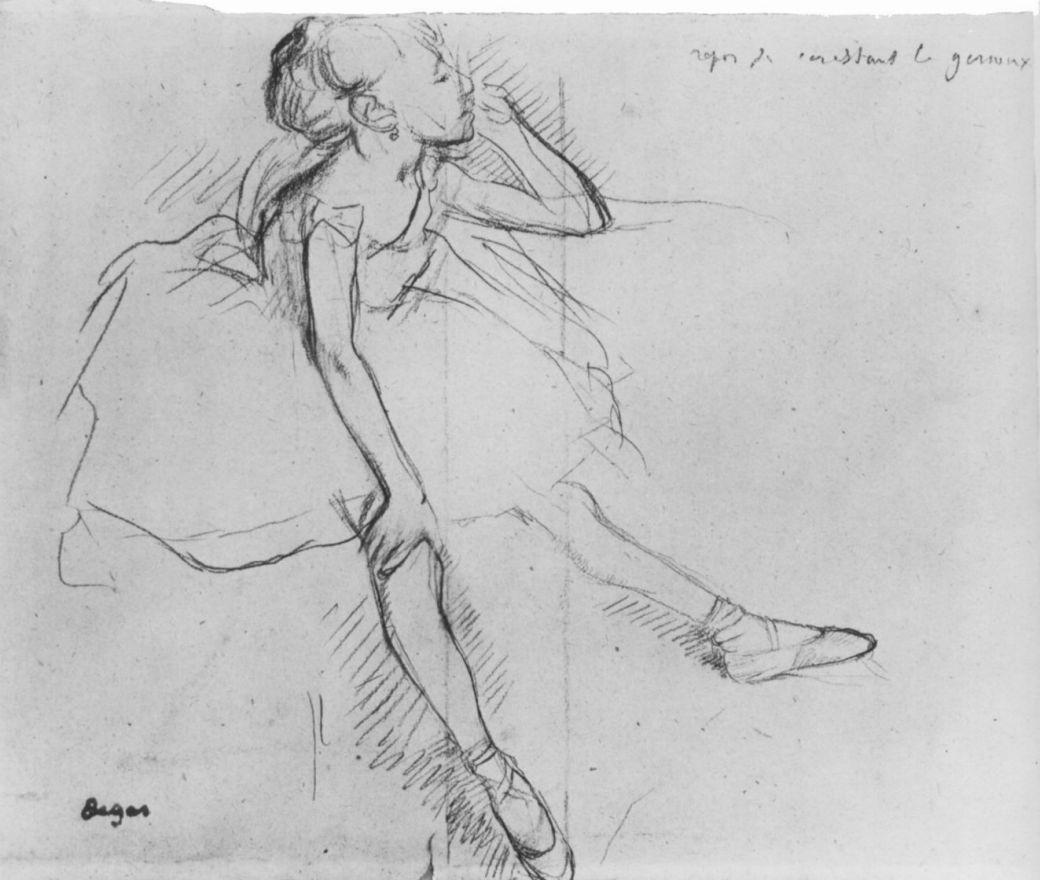Edgar Degas. Resting little ballerina