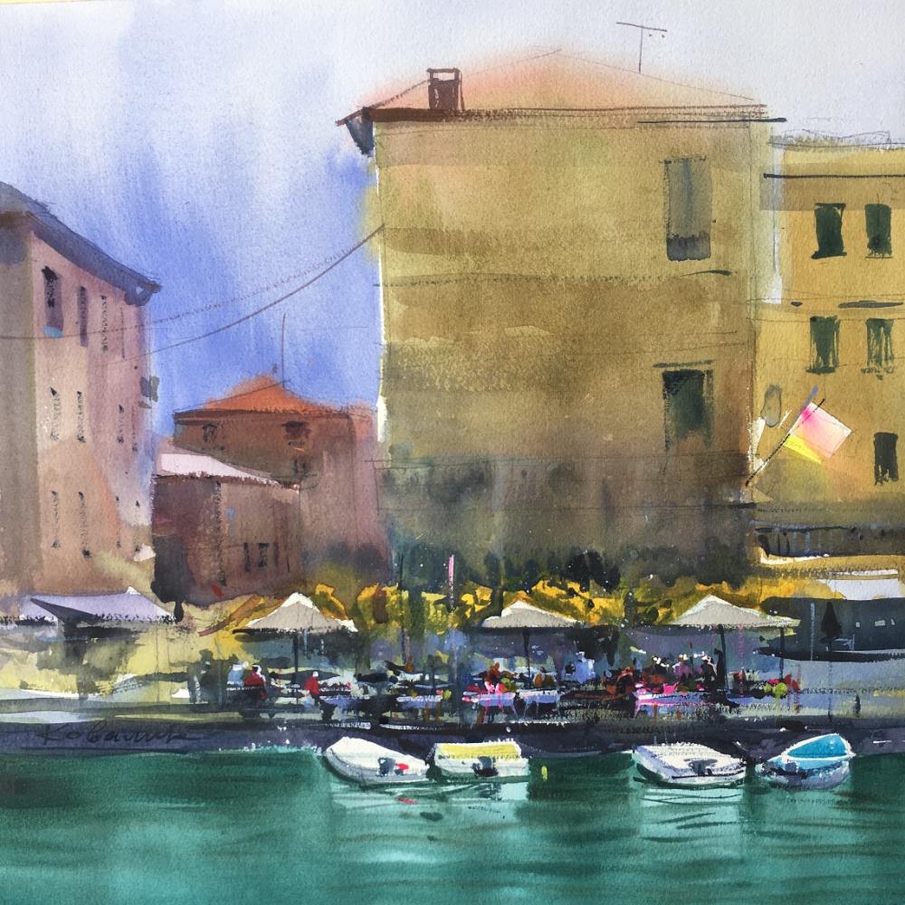 Andrew. Cafe on Lake Garda