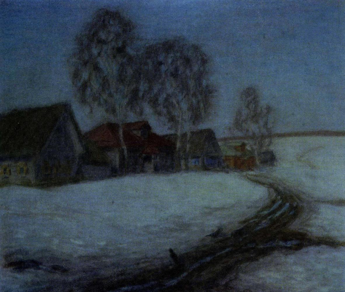 Nikolay Vasilyevich Mescherin. Village. Thaw.