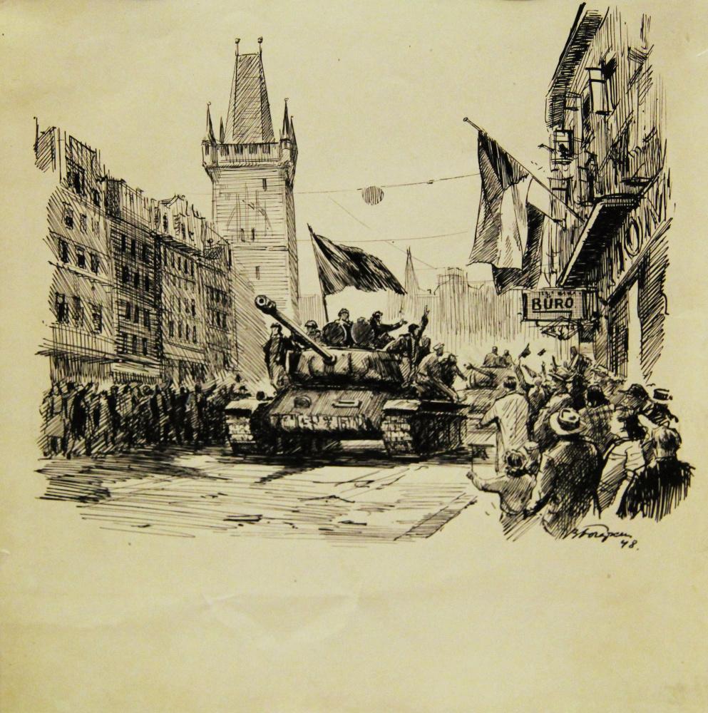 Vladimir Valerianovich Bogatkin (05.10.1922-1971). Liberated Prague