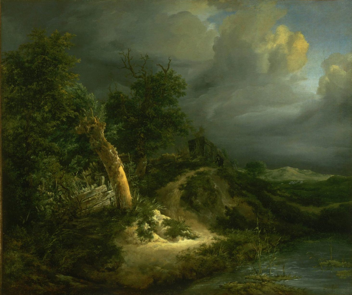 Jakob van Isaacs Ruisdael. Thunderstorm in the dunes