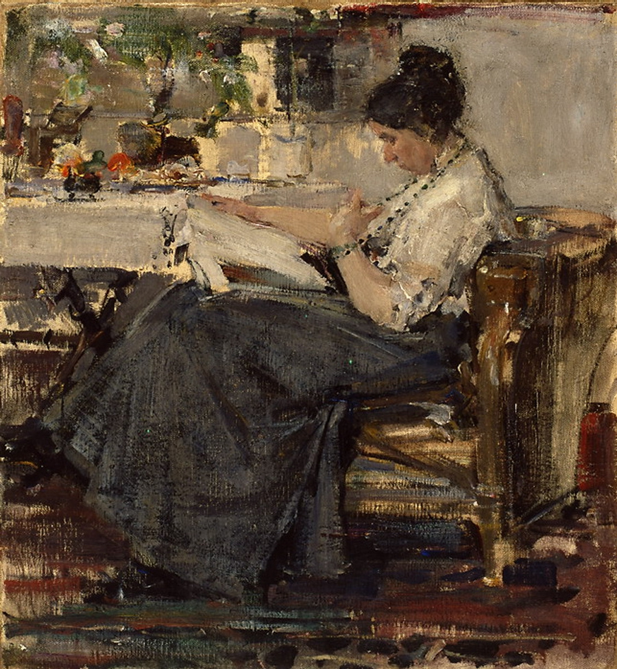 Nikolay Feshin. Portrait Of N. M. Sapozhnikova.