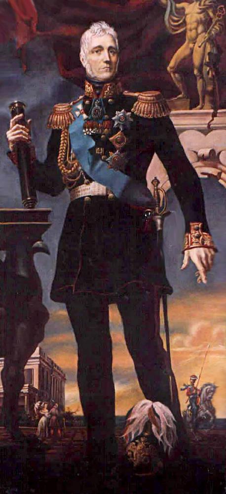 Daniil Litvinov. Portrait of Vorontsov
