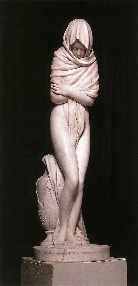 Жан-Антуан Гудон. Замерзшая девушка