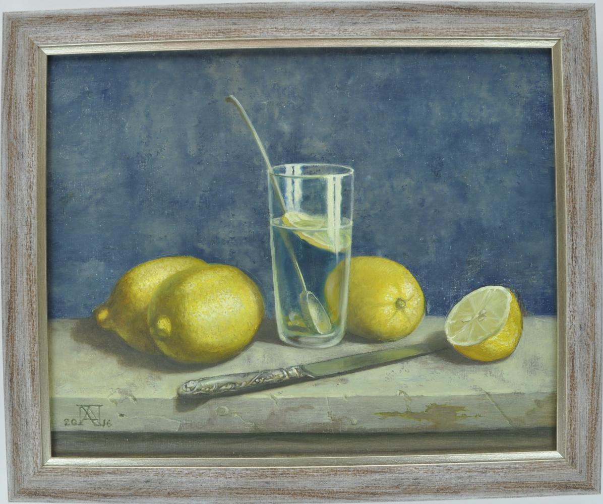 Alexander Petrovich Hodyuk. Still life with lemons
