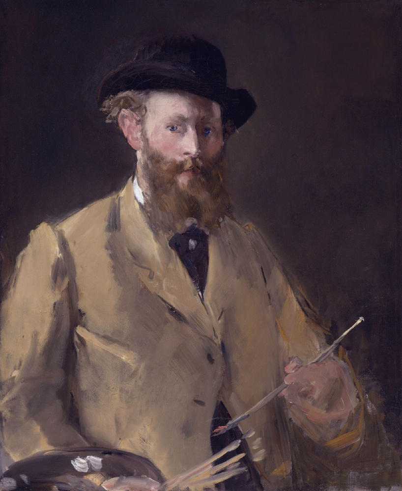 Edouard Manet. Self-portrait with palette