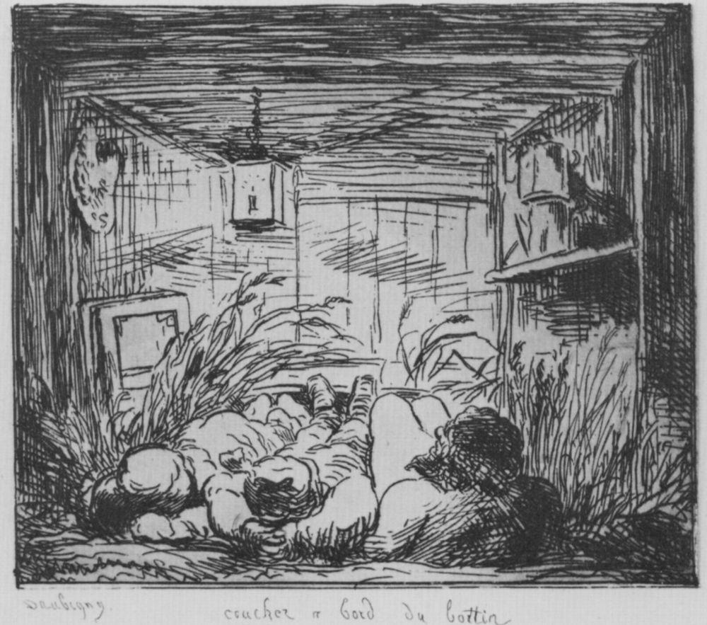 Charles-Francois Daubigny. Overnight on Board