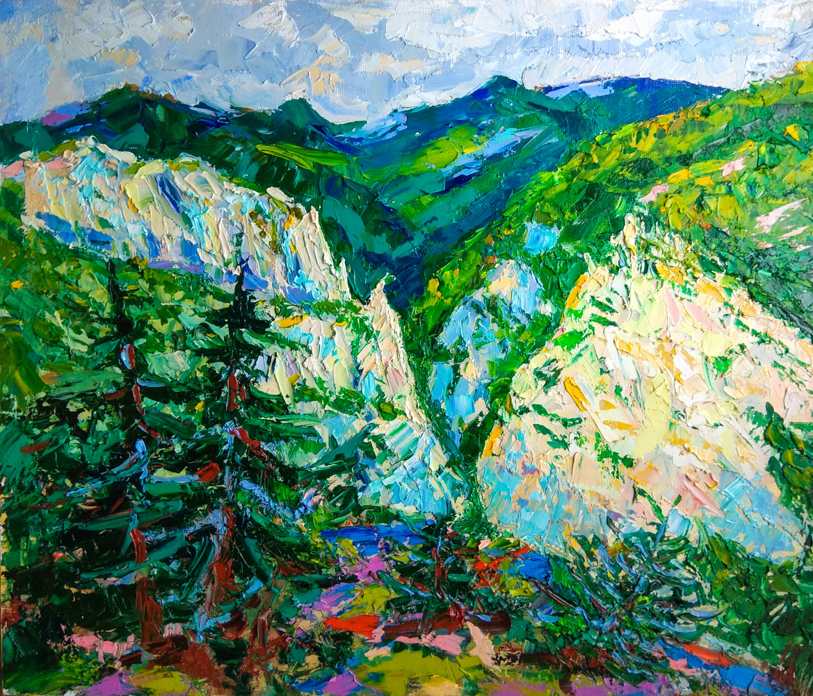 "Artem Konstantinovich Shubin. ""On the Grand Canyon of Crimea"""
