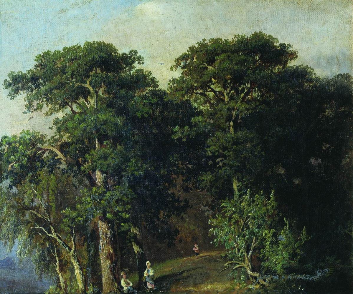 Ivan Ivanovich Shishkin. Forest landscape with figures