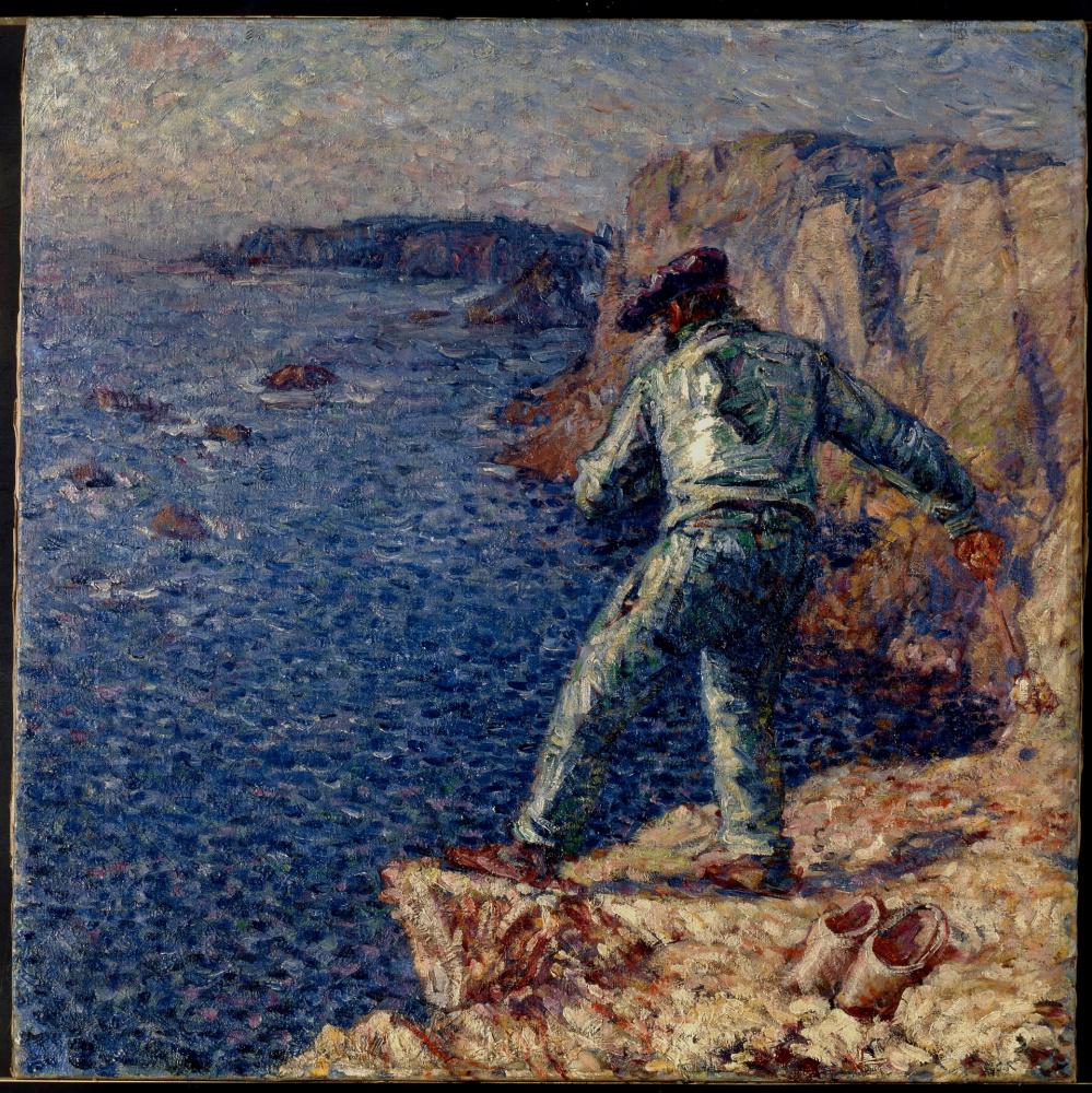 Джон Питер Рассел. Рыбак в синем