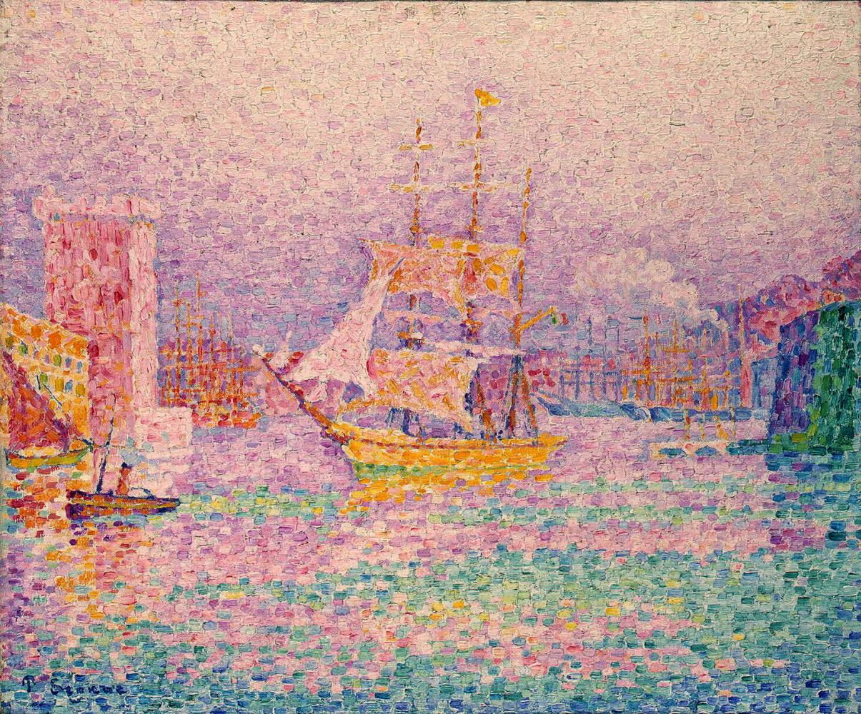 Paul Signac. The Harbor in Marseille