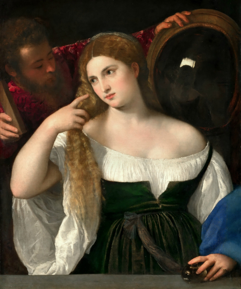 Тициан Вечеллио. Женщина перед зеркалом