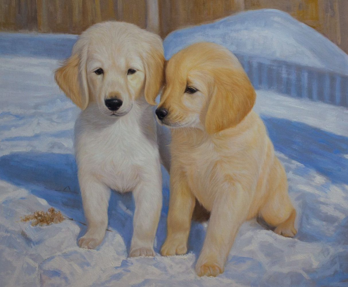 Savely Kamsky. Puppies in the snow