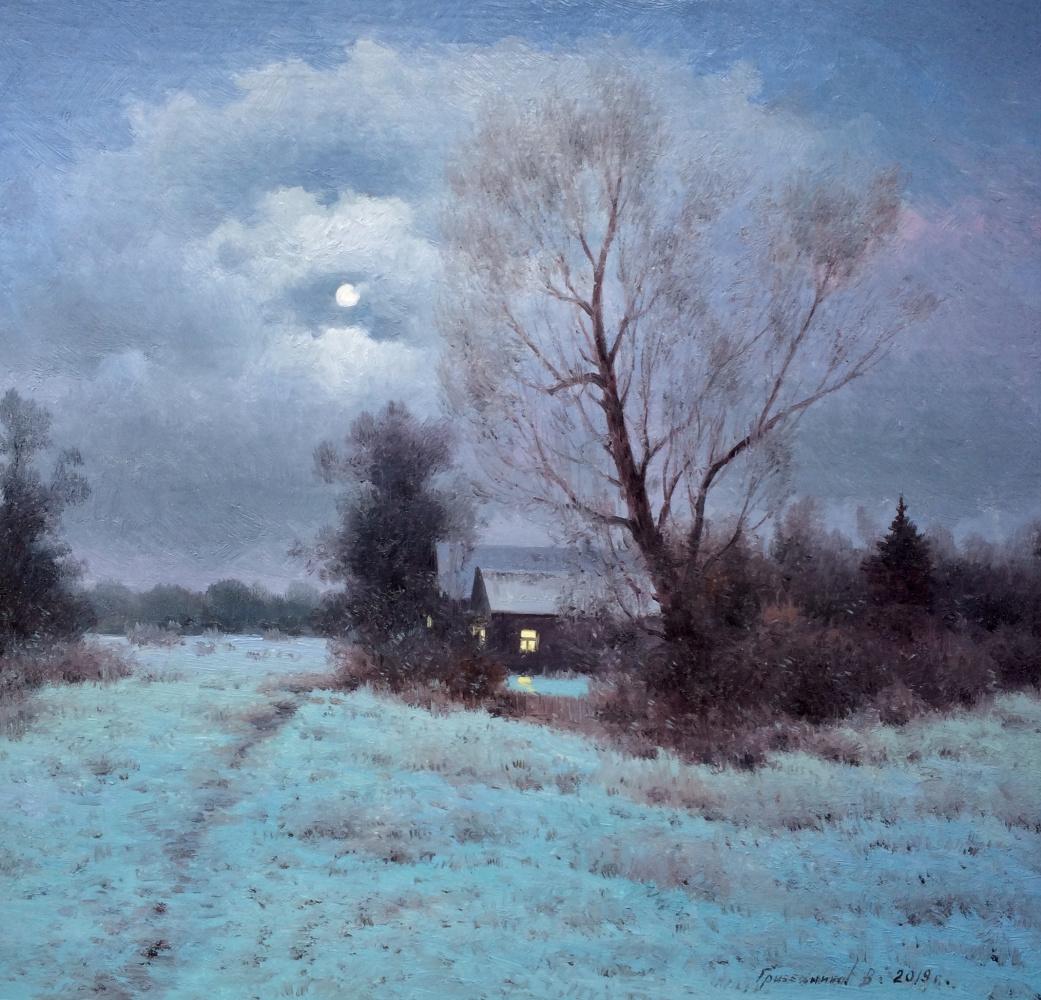 Vasily Ivanovich Gribennikov. Moonlight night