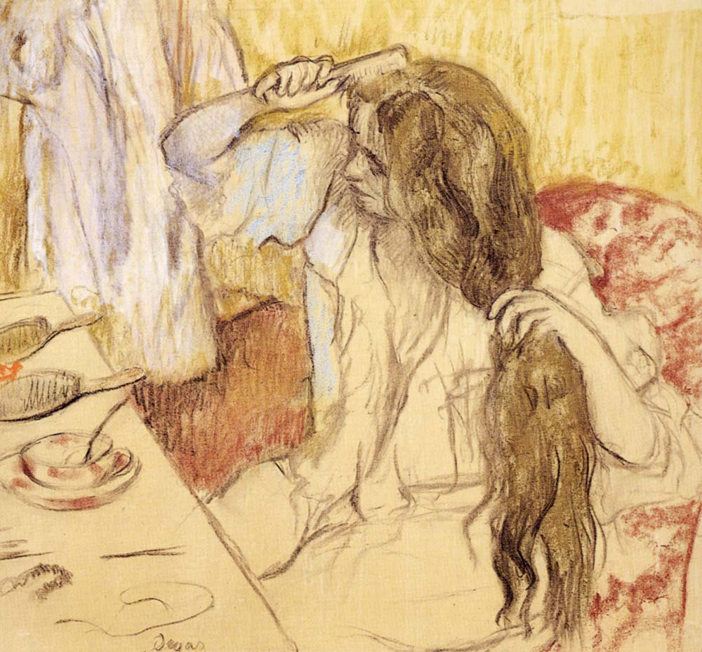 Эдгар Дега. Женщина в своей уборной