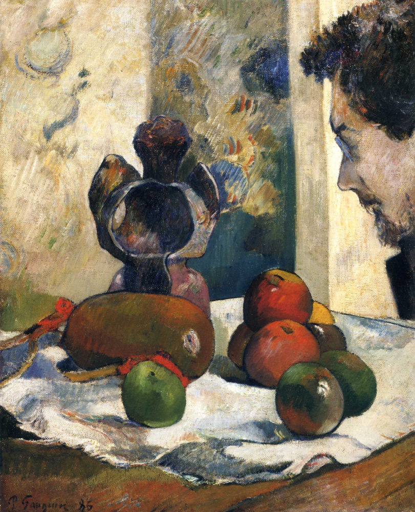 Paul Gauguin. Still life with profile of Charles Laval