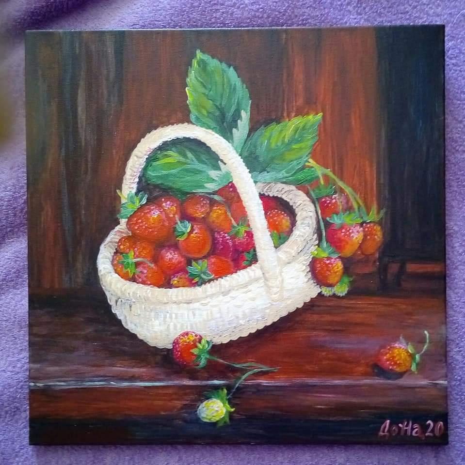 Natalia Anatolyevna Leisure. Basket of berries.