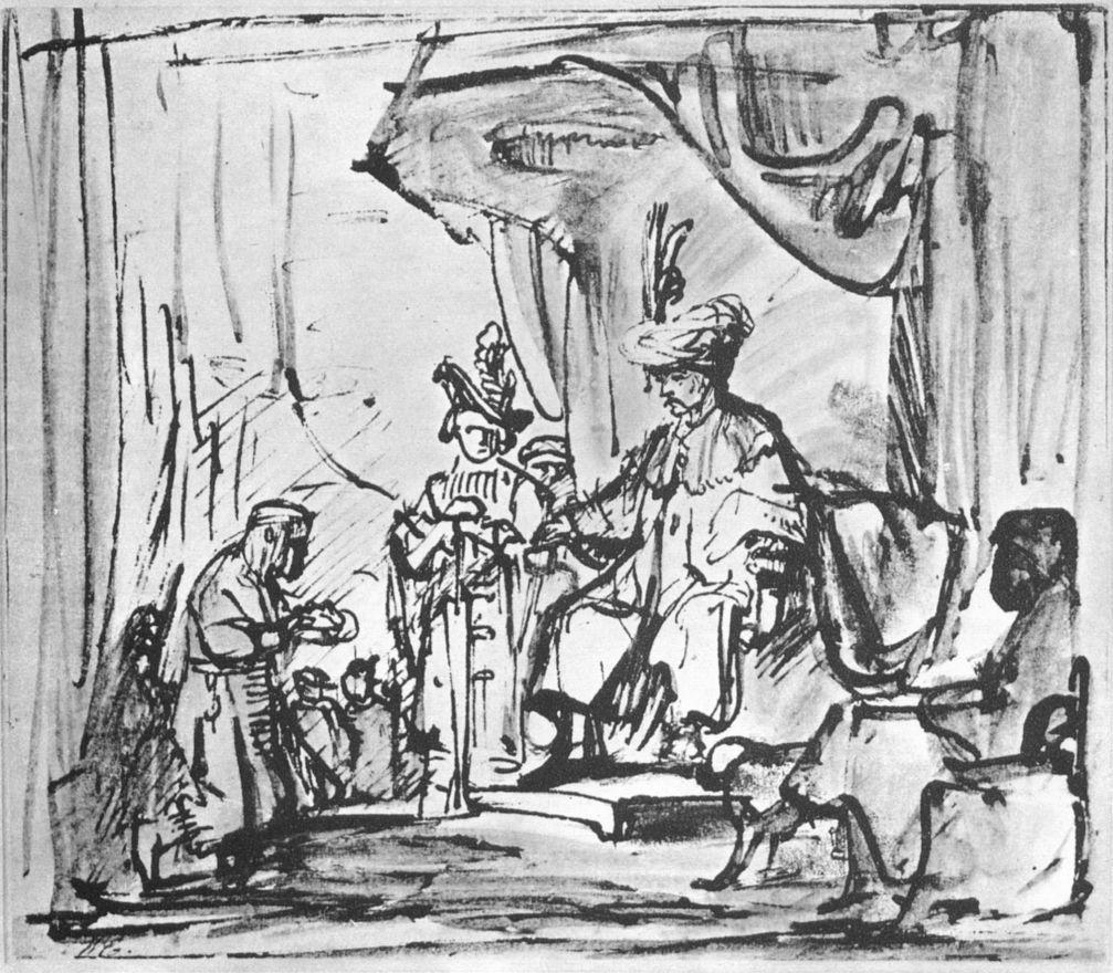 Рембрандт Харменс ван Рейн. Давиду передают корону Саула