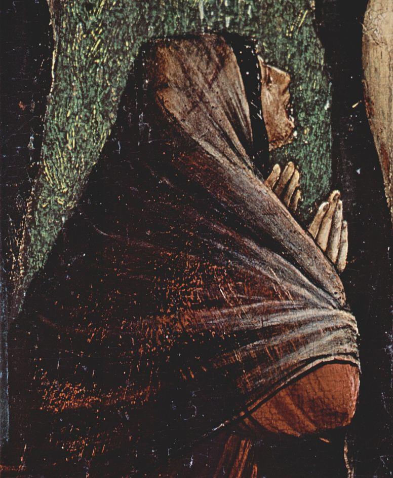 Маттиас Грюневальд. Малое распятие, сцена: Христос на кресте, Мария, Мария Магдалина и св. Иоанн, деталь: св. Мария Магдалина