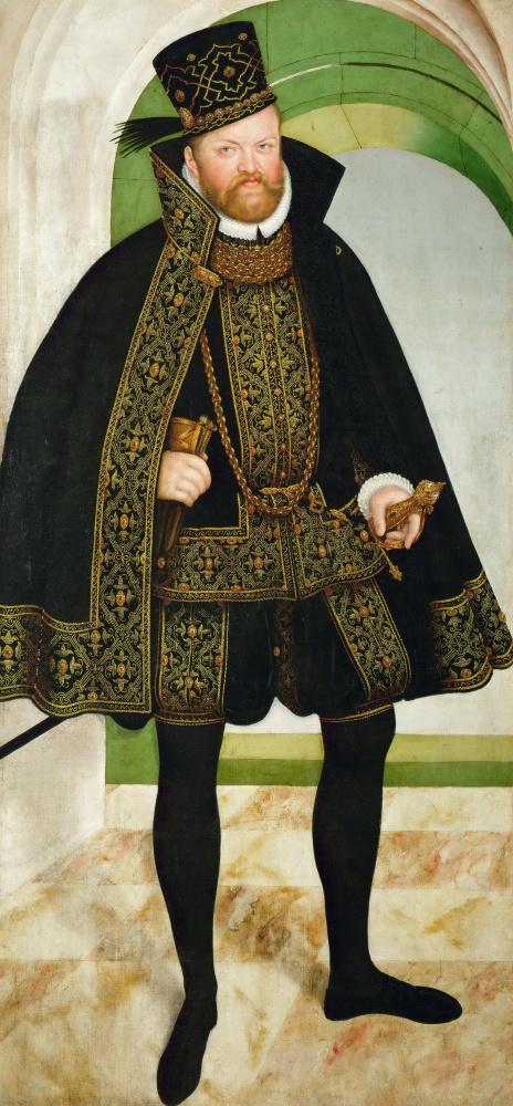 Лукас Кранах Младший. Портрет Августа, курфюста Саксонии