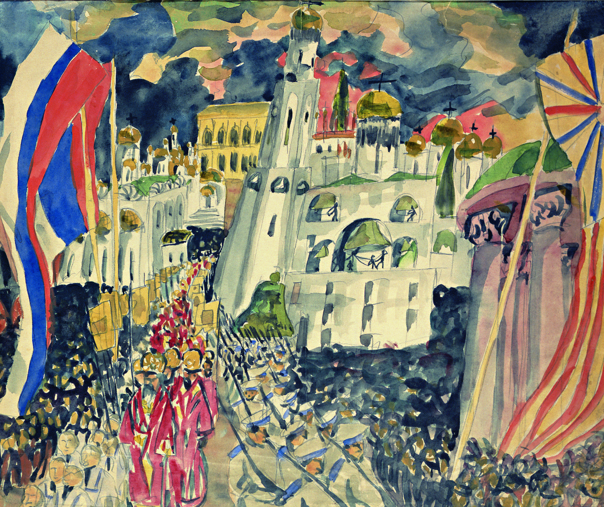 Aristarkh Lentulov. Solemn prayer for the glory of the Russian army