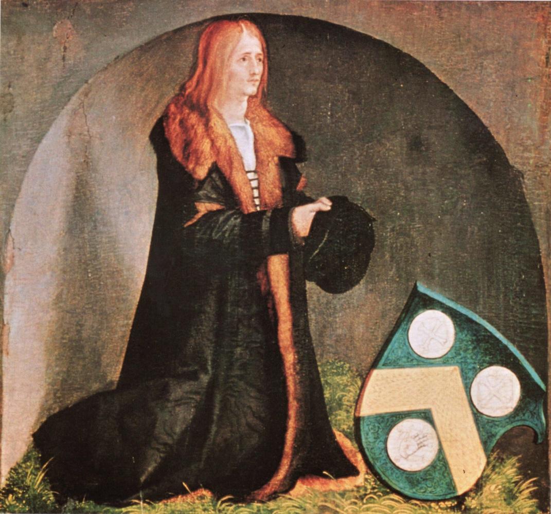 Albrecht Dürer. The customer's portrait of Jacob Heller. The Heller altar, fragment