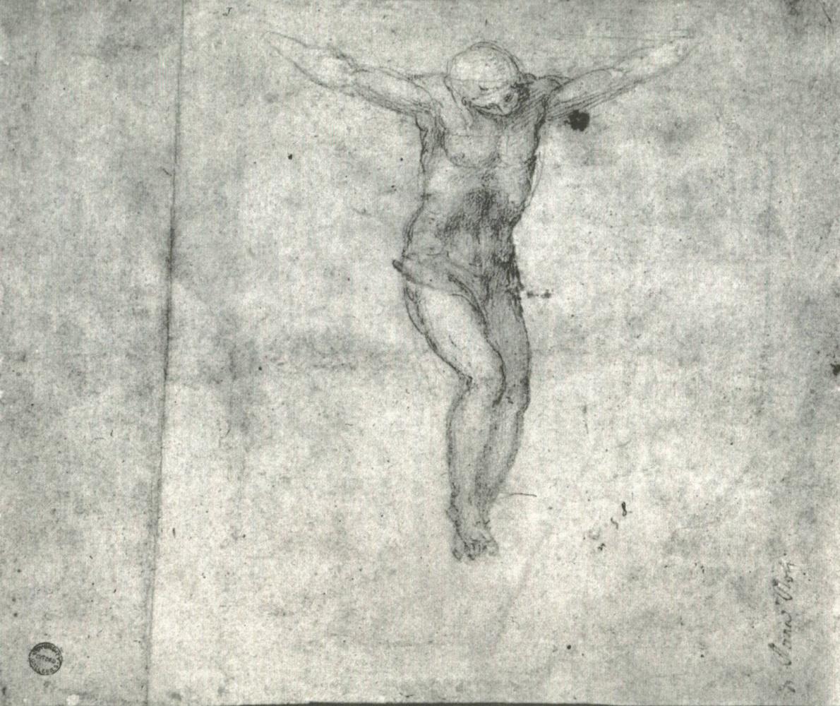 Микеланджело Буонарроти. Этюд для Христа на кресте