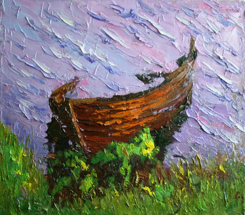 Mikhail Rudnik. A boat