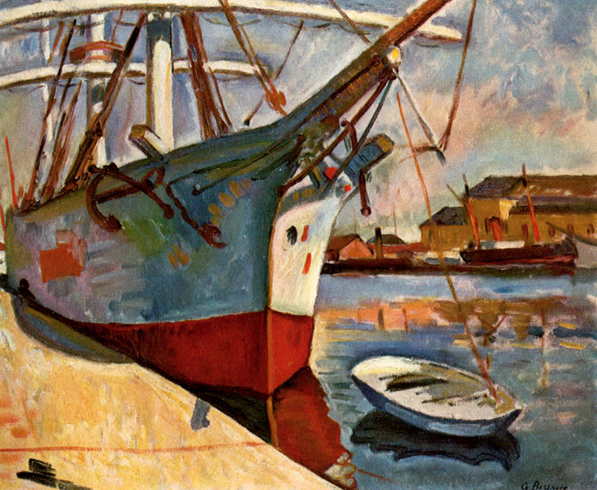 Georges Braque. The ship in Le Havre
