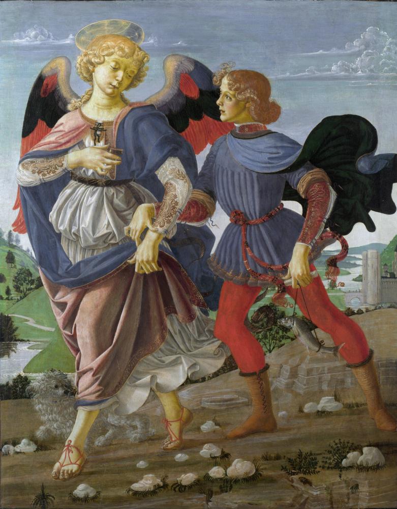 Андреа дель Верроккьо. Ангел и Товия