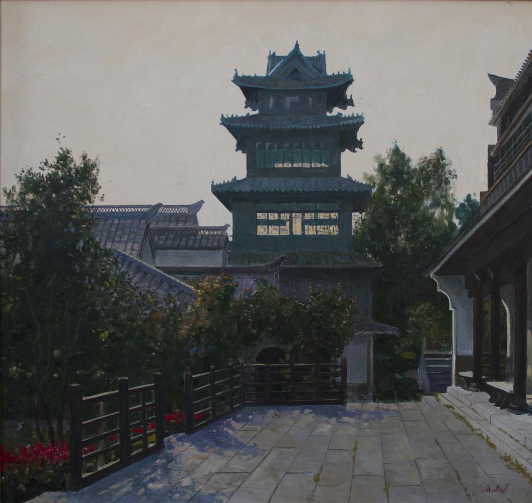 Mikhail Borisovich Lavrenko. China. Pagoda in the old town