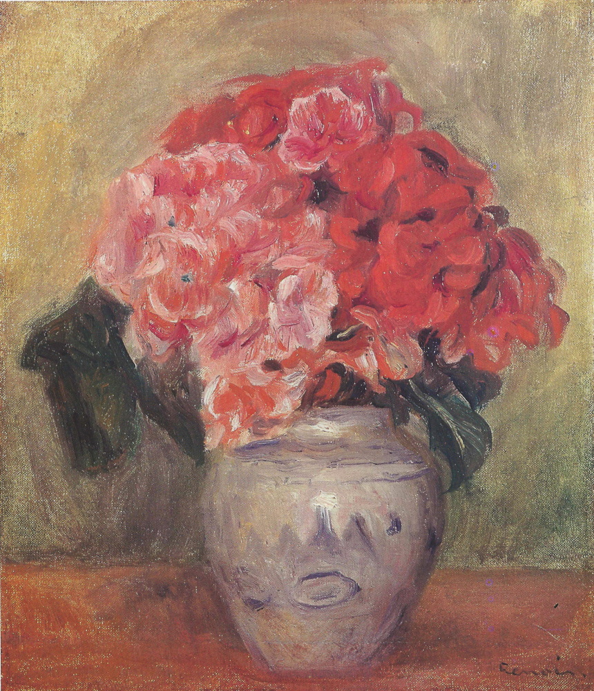 Pierre Auguste Renoir. Still life with flowers