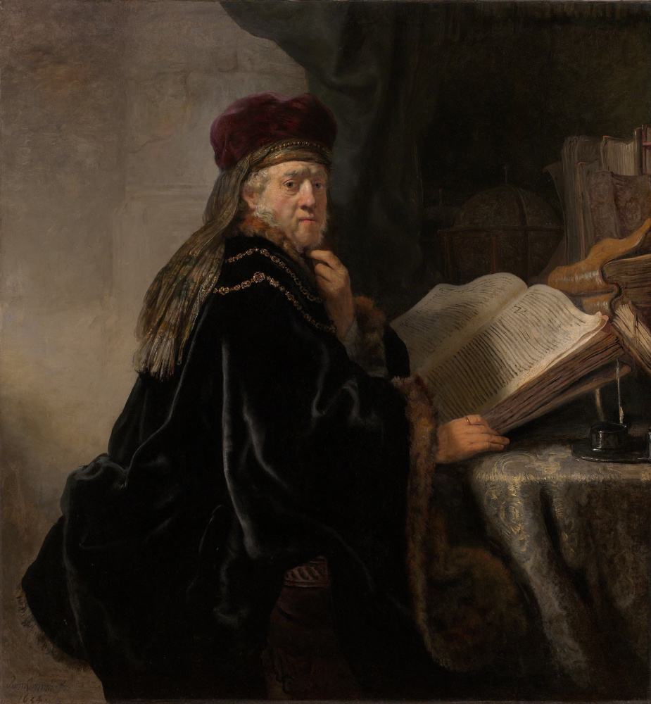 Rembrandt Harmenszoon van Rijn. Scientist at the table