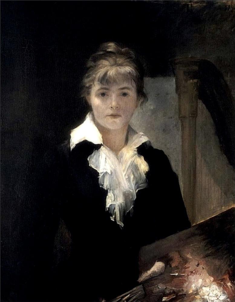 Мария Константиновна Башкирцева. Автопортрет с палитрой