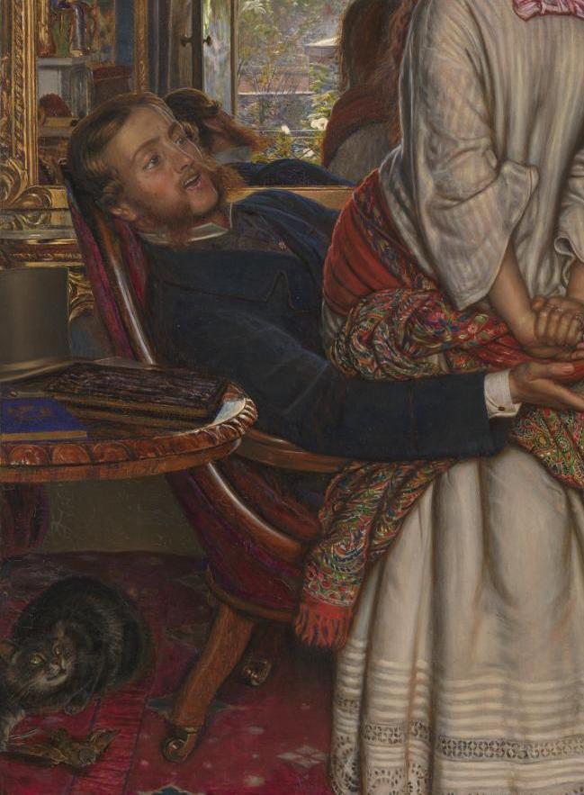 William Holman Hunt. Awakened shame. Fragment