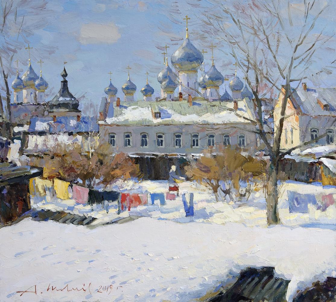 Alexander Victorovich Shevelyov. Rostov the Great. Kommunalnaya street. Oil on canvas 45.5 x 50.5 cm. 2019