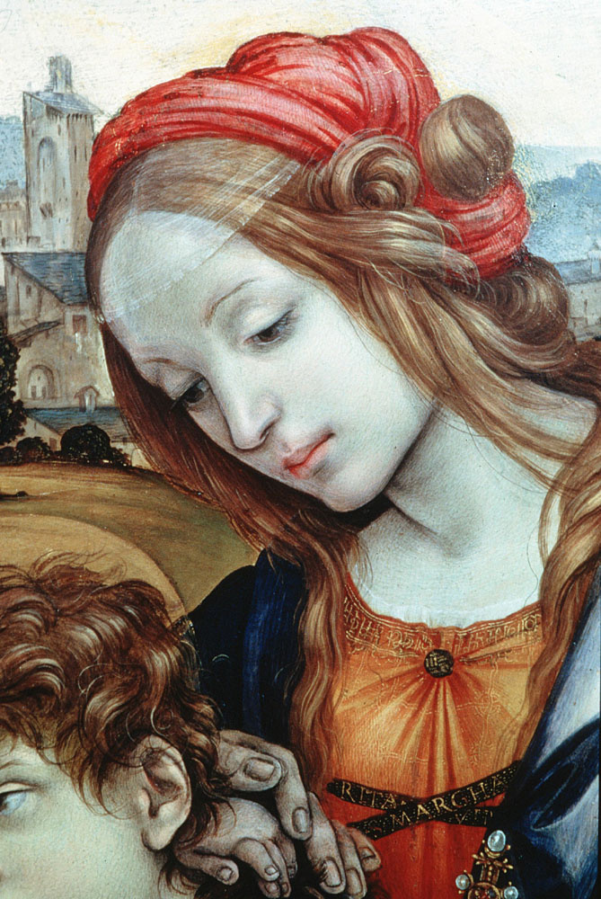 Filippino Lippi. Holy family, detail