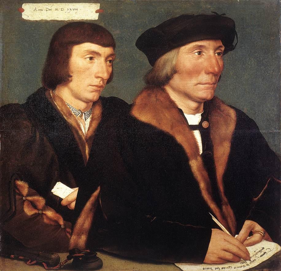 Ганс Гольбейн Младший. Двойной портрет сэра Томаса и его сына Джона