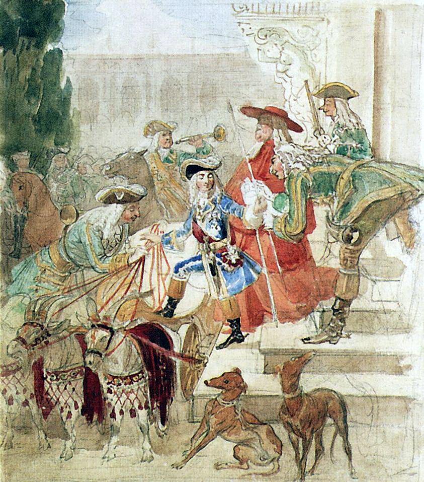 Карл Павлович Брюллов. Прогулка Людовика XV в детстве